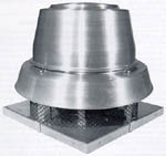 Spun aluminum Greenheck mushroom roof fan ventilator